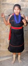 Hopi girl in ceremonial dress; represents Hopi Spirit Journey and fall women's ceremony journey