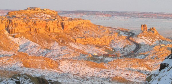 2nd Mesa, Hopi at winter solstice sunset, 2012