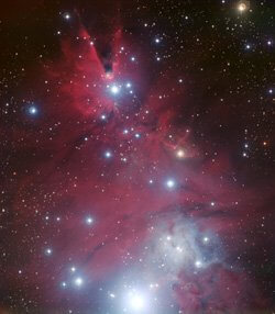 NASA photo of red cluster of galaxies is symbolic of connecting with the greater field of consciousness for wisdom while doing shamanic journey.