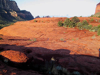 Circular red rock formation in Bear Wallow Canyon, Sedona, is a natural power place.