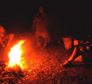 campfire circle, Navajo Indian lands, spirit journey, fire blessing, sandpainting, Canyon de Chelly