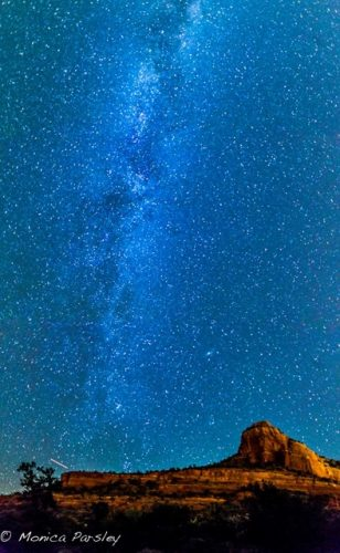 Milky Way galaxy is a special part of Sedona night sky viewing.