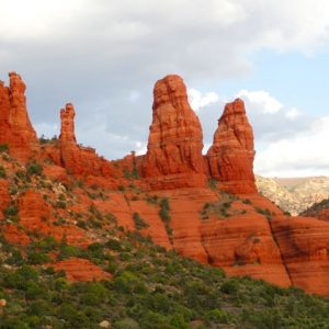 Four Sisters red rock formation; this is a Sedona ancestor sacred site which is discussed in Discover Sedona Program