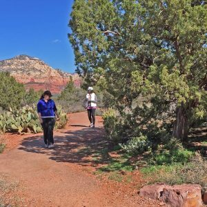 Sedona vortex tour program is held at red rock scenic sites such as this one with Thunder Mountain in the background.