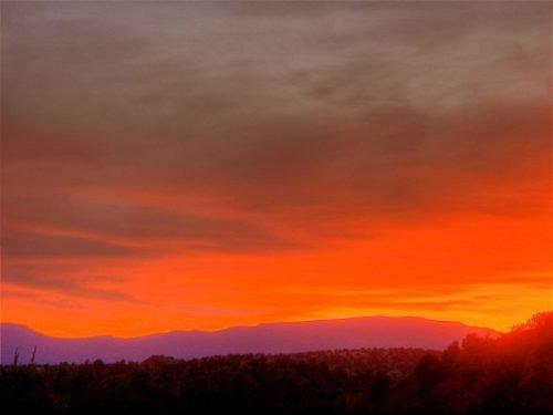 Sedona Fall sunset by Rusty Albertson