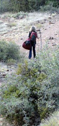 Heading out for solo overnight by Sandra Cosentino. Shamanic skills, mystic vision, solo overnight in nature, Sedona