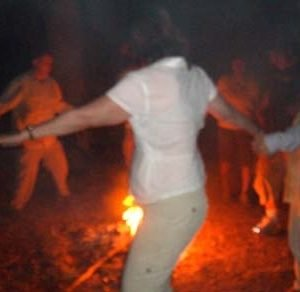 Canyon de Chelly, campfire circle, ceremony while on a Navajo Spirit Journey.