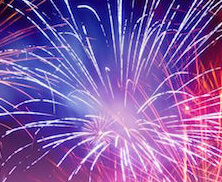 Fireworks photo illustrates Sedona 4th of July program